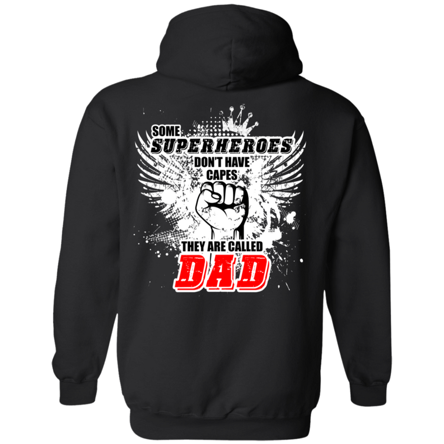 Some Superheroes Don't Have Capes, They Are Called Dad Hoodie, Cotton/Polyester, Black