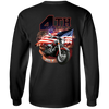 4th of July Long Sleeve T-Shirt, Cotton, Black