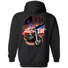 4th of July Hoodie, Cotton/Polyester, Black