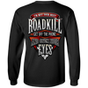 I'm Not Your Next Roadkill Get Off The Phone And Open Your Eyes Long Sleeve T-Shirt, Cotton, Black