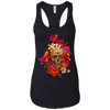 Colorful Flower Skull Tank Top