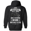 Some Grandpas Play Bingo, Real Grandpas Ride Motorcycles Hoodie, Cotton/Polyester, Black