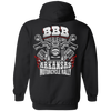 Bikes Blues & Bbq Arkansas Motorcycle Rally Hoodie, Cotton/Polyester, Black