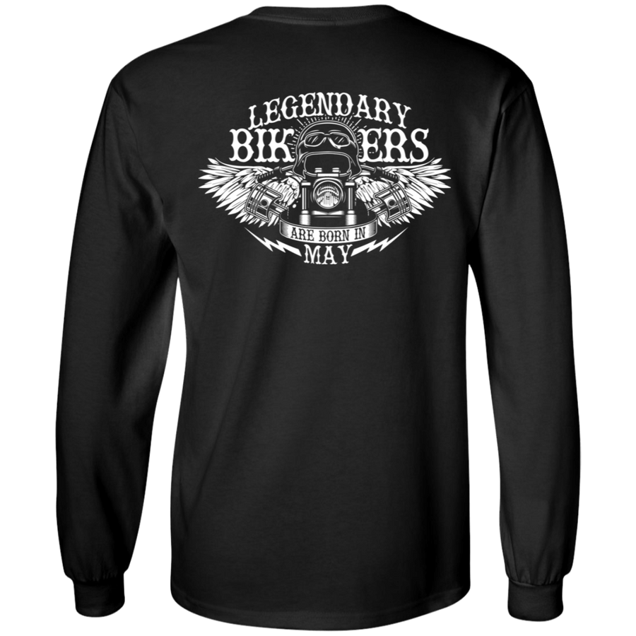 Legendary Bikers Are Born in May Long Sleeves