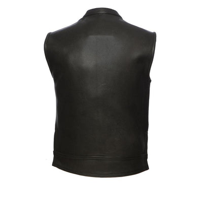 First Manufacturing Rampage Motorcycle Leather Vest, Black - American Legend Rider