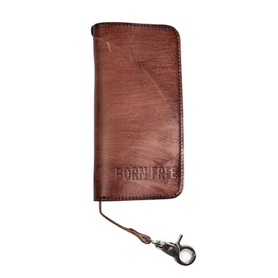 First Manufacturing Born Free - Full Trucker Leather Wallet - American Legend Rider