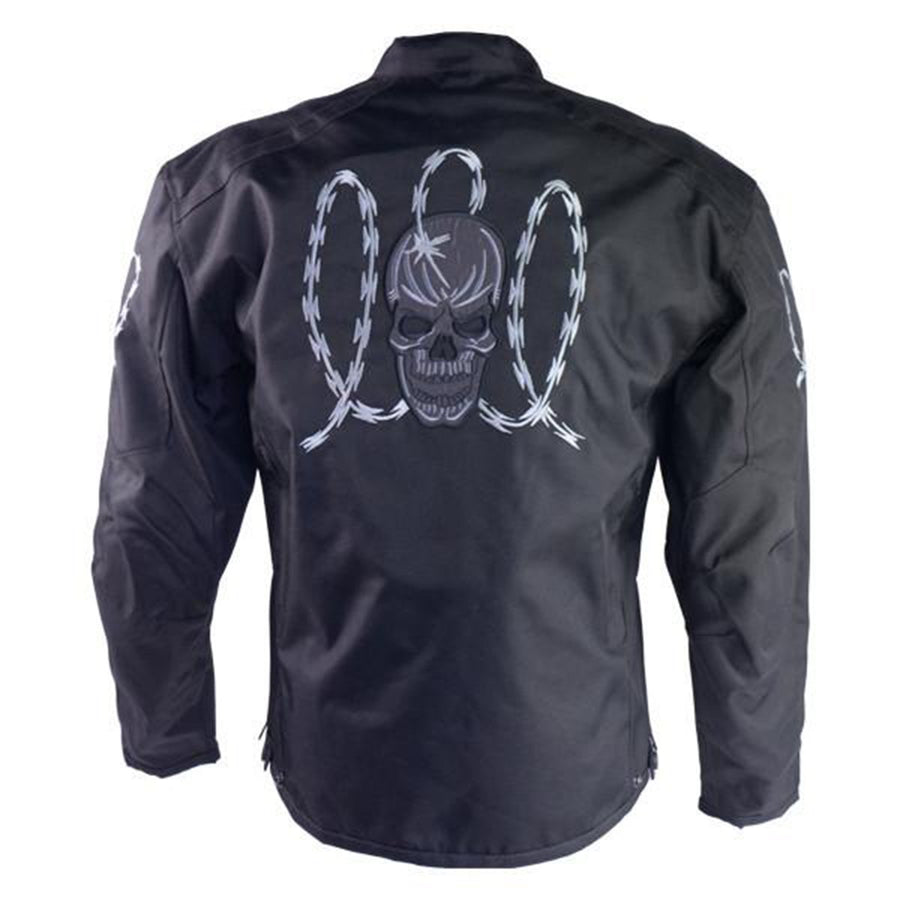 Vance Leather H/M Armored Jacket with Reflective Skulls and Razor Wire