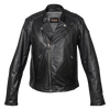 Vance Leather High Mileage Men's Black Leather Jacket with Diamond Stitched Shoulders