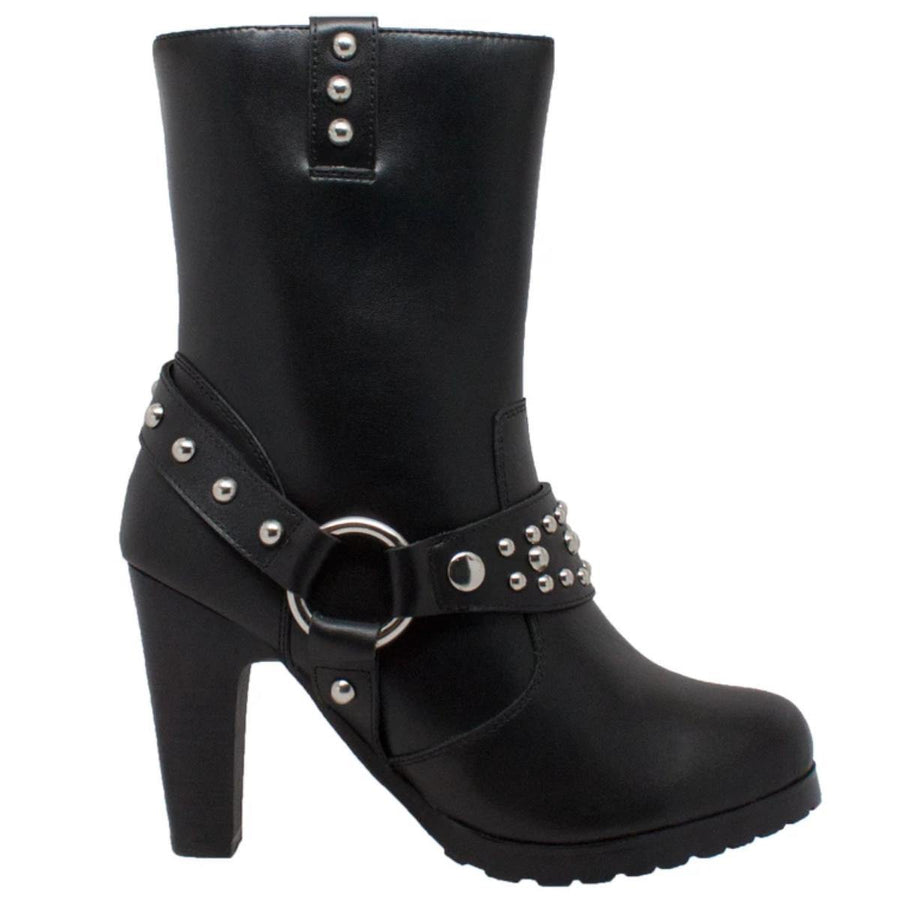 Daniel Smart Heeled Boots with Studs