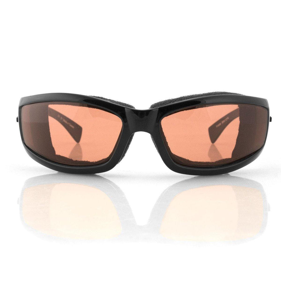 Bobster Invader Sunglasses, Gloss Black Frame, Clear Photochromic Lenses