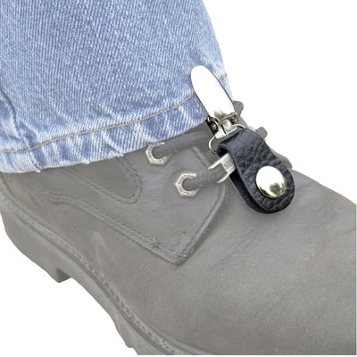 Daniel Smart Boot Clips Eagle, Unisex, Leather, Black/Silver