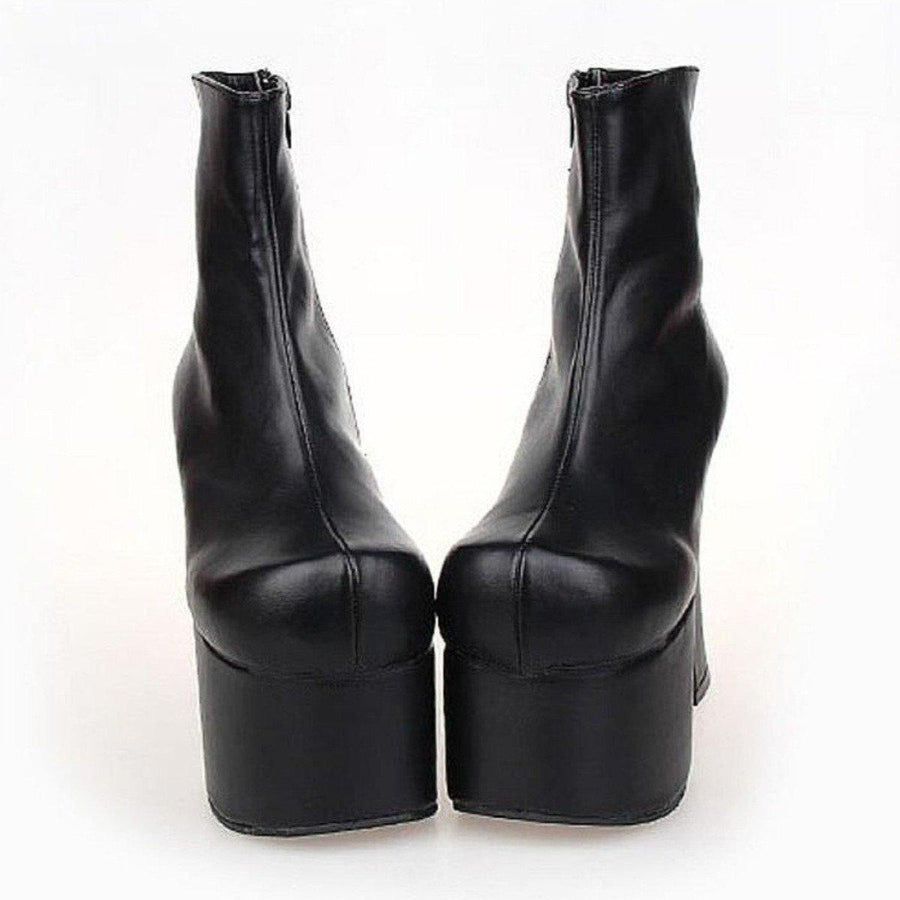 Women's Mid Calf Punk Boots