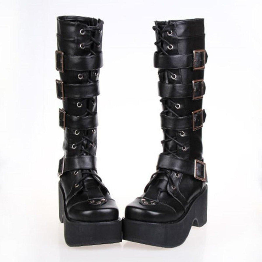 Women's Lace Up Punk Boots