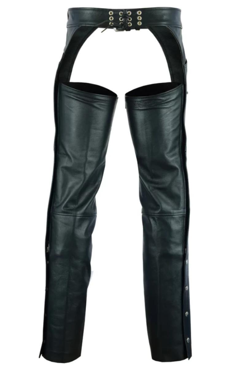 Daniel Smart Leather Chaps with 2 Jean Style Pockets