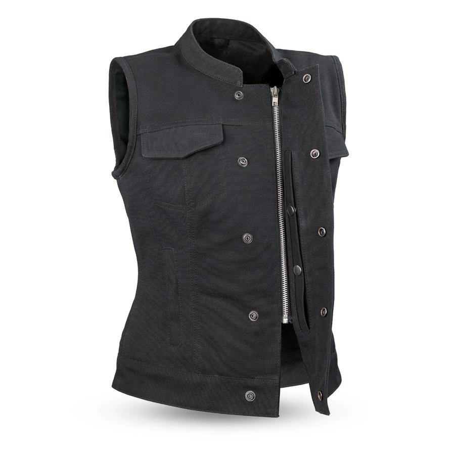 First Manufacturing Ludlow Canvas Vest - American Legend Rider