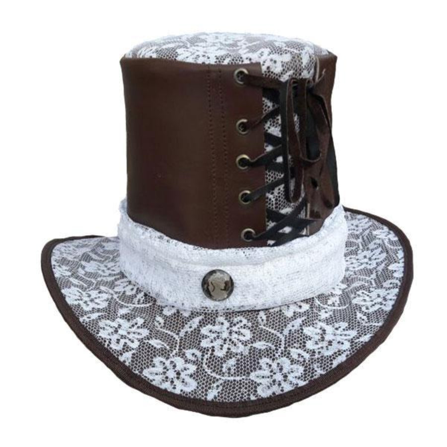 Vance Leather Lace Top Hat