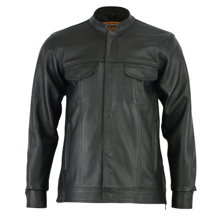 Daniel Smart Men's Full Cut Leather Shirt
