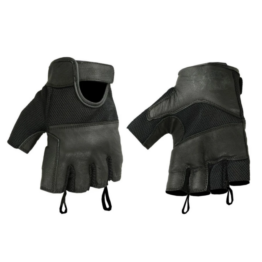 Daniel Smart Leather/Mesh Fingerless Gloves 2.0