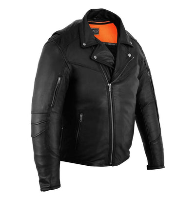 Daniel Smart Men's Longer Beltless Biker Jacket