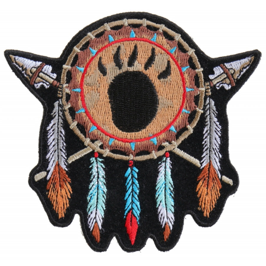 Daniel Smart Native Indian Small Embroidered Iron on Patch, 4.1 x 3.9 inches