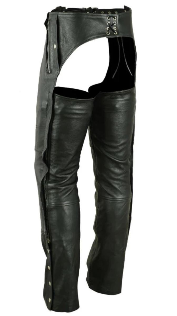 Daniel Smart Biker Thermal Lined Leather Chaps - American Legend Rider