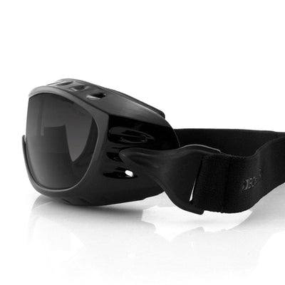Bobster Night Hawk II OTG Goggles with Photochromic Lens for Men, Large, Black Gloss Frame