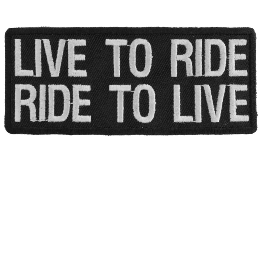 Daniel Smart Live To Ride Ride To Live Biker Saying Patch, 4 x 1.75 inches