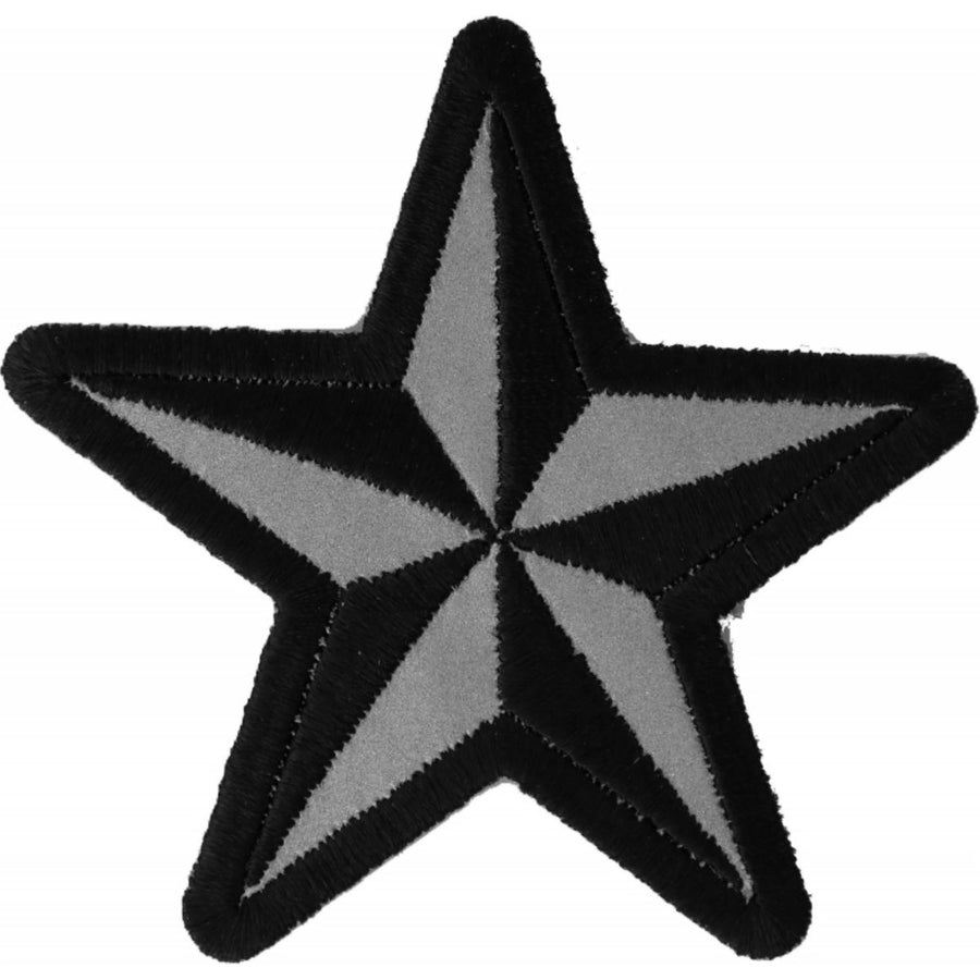 Daniel Smart Reflective Nautical Star Novelty Iron on Patch, 3 x 3 inches