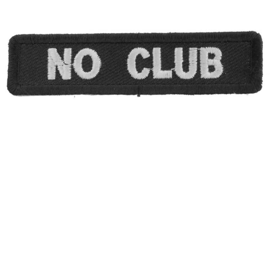 Daniel Smart No Club Patch for Bikers, 3 x 0.75 inch