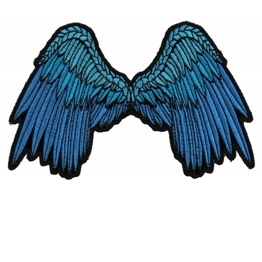 Daniel Smart Small Beautiful Angel Wings Blue Patch, 5 x 3 inches