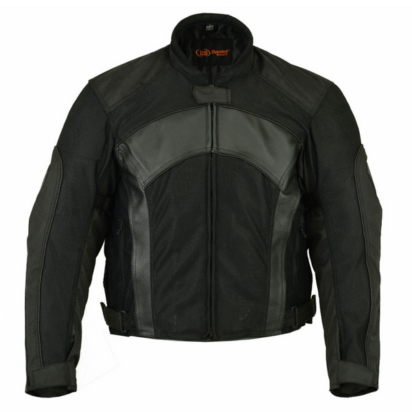 Daniel Smart Men's Mesh/Leather Padded Jacket