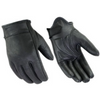 Daniel Smart Premium Short Cruiser Black Leather Gloves - American Legend Rider