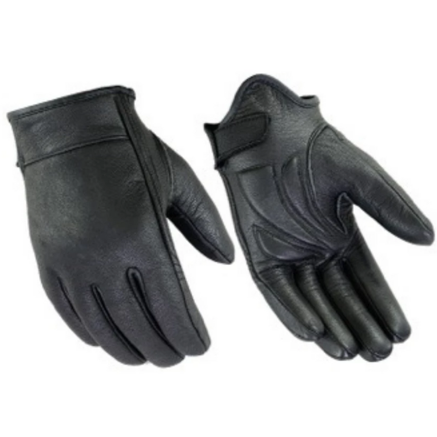 Daniel Smart Premium Short Cruiser Black Leather Gloves