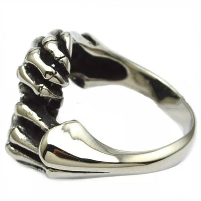 Daniel Smart Stainless Steel Skull Fingers Biker Ring