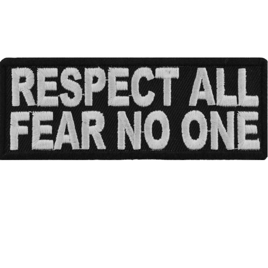 Daniel Smart Respect All Fear No One Embroidered Iron On Morale Patch, 4 x 1.5 inches