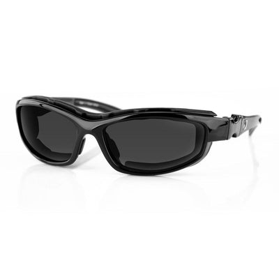 Men's Bobster Road Hog II Convertible Sunglasses, Black Frame, 4 Sets of Polycarbonate Lenses, M