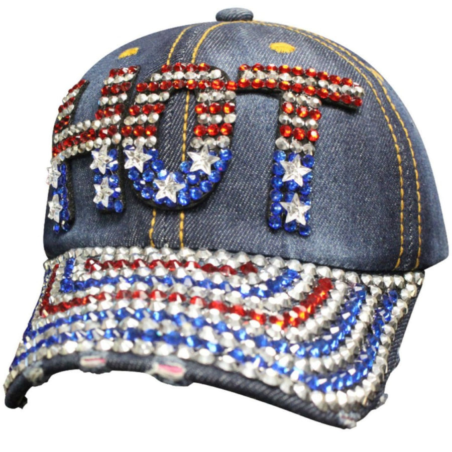 Daniel Smart Women's Denim Bling American Hat