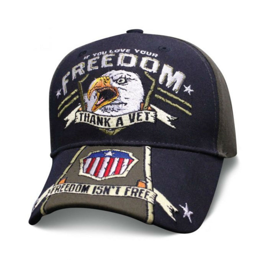 Daniel Smart Eagle Scream Thank A Vet, Unisex, Black/Gray