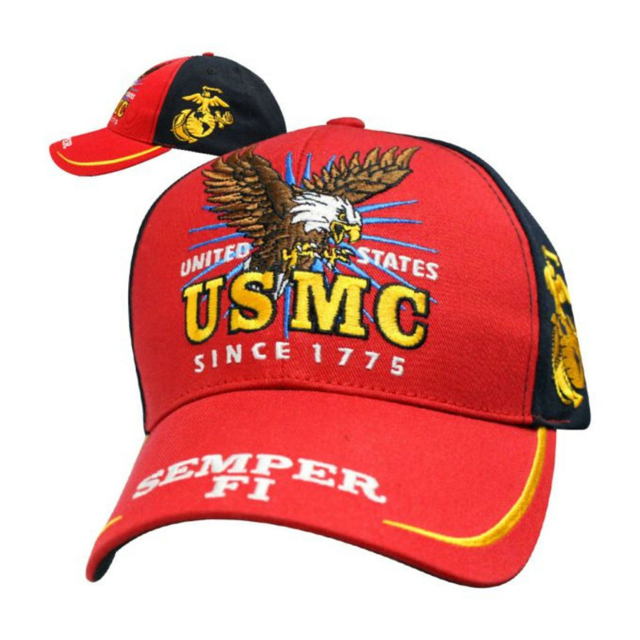 Daniel Smart Victory - Marines Hat, Unisex, Red/Black