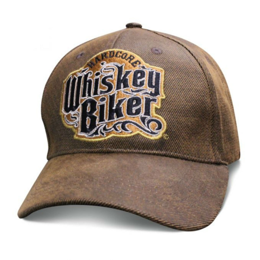 Daniel Smart Premium Whiskey Biker Oilskin Hat, Unisex, Brown