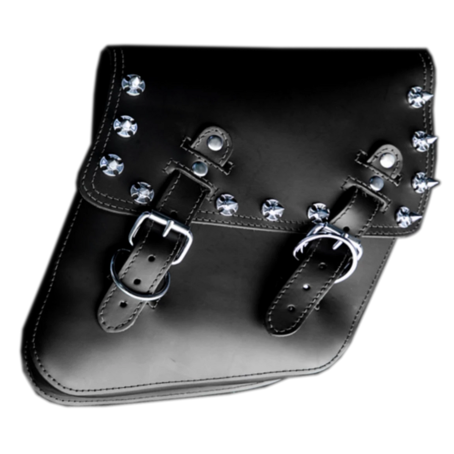 La Rosa Iron Cross Spikes Saddle Bag