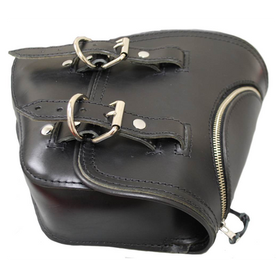 La Rosa Softail Swing Arm Leather Bag with Zipper