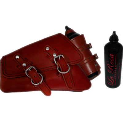 La Rosa HD Sportster Swing Arm Bag with Spare Fuel Bottle