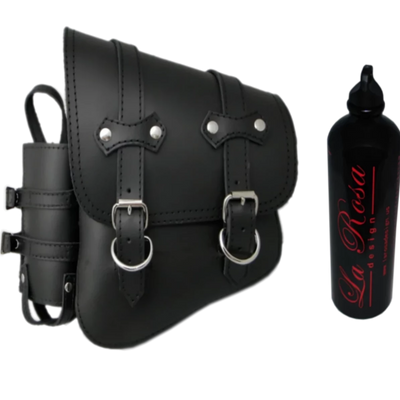 La Rosa All Softails Clasick Saddle Bag with Fuel Bottle Holder