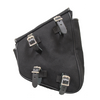 La Rosa All H-D Softail Models Left Side Swingarm Saddle Bag, Canvas, Black