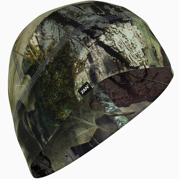 ZANheadgear® Mossy Oak® Break-Up Country® Skull Cap Beanie Helmet Liner, Unisex, Polyester/Elastane, Black/Green