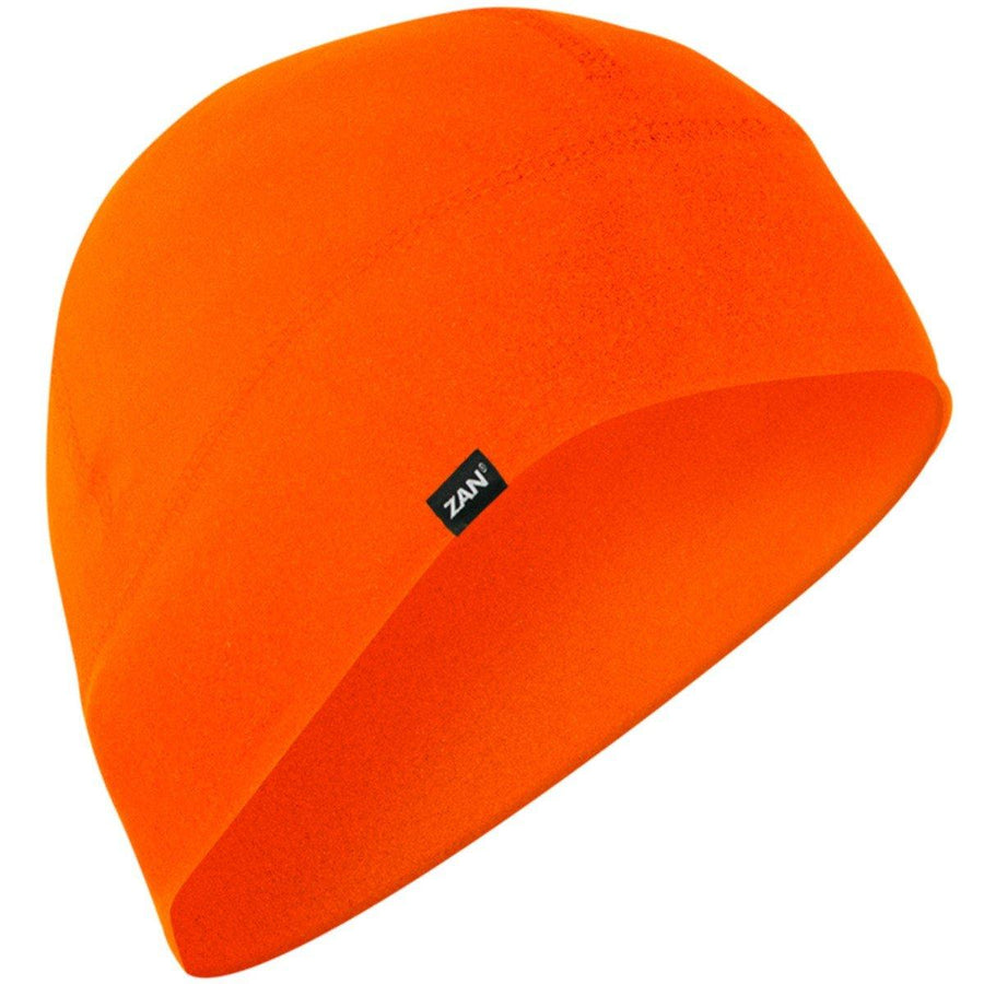 Zan Headgear® SportFlex™ Unisex Hi-Viz Orange Style Beanie with 50+ UV Protection, Brushed Polyester/Elastane Ultra-Comfort Material