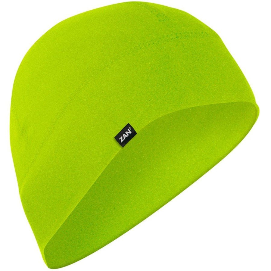 Zan Headgear® SportFlex™ Unisex Hi-Viz Lime Style Beanie with 50+ UV Protection, Brushed Polyester/Elastane Ultra-Comfort Material