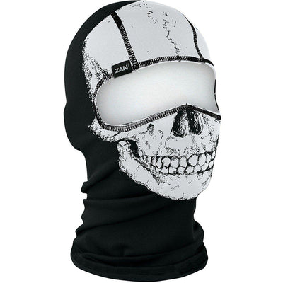 Zan headgear® Skull Balaclava, Unisex, Polyester, One Size, Black with White Skull Print