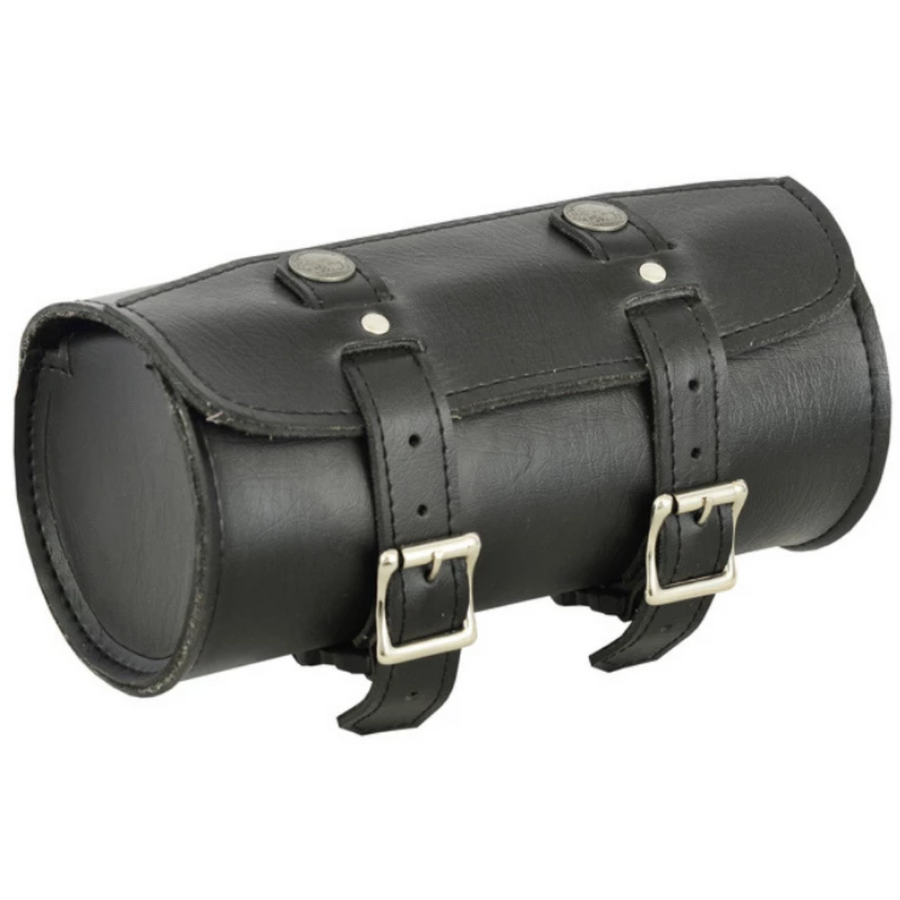 Daniel Smart Small Leather Round Tool Bag